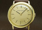 Girard-perregaux 18k Gold Solid Cal.091-684 1960and039s Vintage Hand Winding Watch