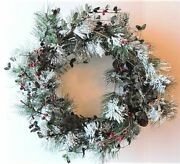 Oddity Holiday Frosted Pine 22 Wreath New