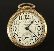Antique Waltham Pocket Watch Vanguard Up And Down Indicator 23j 16 Size Ca.1892