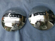 Chrome Moon Hub Caps For Early Chev Cars And Trucks With Chevrolet Logo