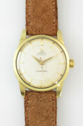 Omega Seamaster Gold Top 2-tone Dial Ss 1958 Vintage Automatic Watch Overhauled
