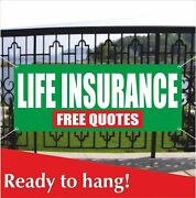 Life Insurance Free Quotes Banner Vinyl / Mesh Banner Sign Insurance Policy