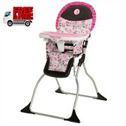 Baby High Chair Minnie Mouse Feeding Folding Seat Lightweight Easy Storage New