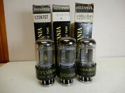 Sylvania Set Of 3 12sn7gt Vacuum Tubes Nos Tested Between 103 And 115 Matched