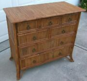 Milling Road Baker Furniture Palm Beach Regency Faux Bamboo 7 Drawer Chest