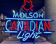 New Molson Canadian Light Neon Sign 24x20 Lamp Poster Real Glass Beer Bar