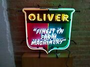 New Oliver Finest In Farm Machinery Neon Sign 24x20 Lamp Poster Real Glass