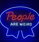 New People Are Weird Neon Light Sign 24x20 Lamp Poster Real Glass