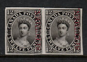 Canada 3pi Very Fine Plate Proof Pair On India Paper - A True Showpiece