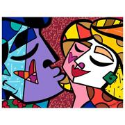 Britto Honey Hand Signed Limited Edition Giclee On Canvas Coa