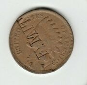 1907 Indian Head Cent Counterstamped J. F. Mit And Tch
