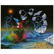 Disney Fine Art Jim Warren Mickey The Composer Signed Limited Edition Canvas