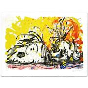 Everhart Blow Dry Signed Limited Edition Peanuts Lithograph Coa