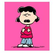 Peanuts Lucy Pink Limited Edition Canvas 44x40 Animation Art