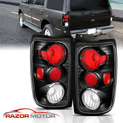 1997-2002 For Ford Expedition Black Brake Tail Lights Lamps Pair