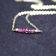 Natural Pink Spinel Necklace In 14k Yellow Gold Filled 16th 22nd Anniversary