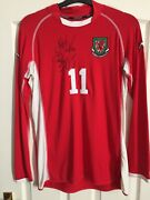 Rare Match Worn And Signed Unwashed Ryan Giggs Wales International Shirt