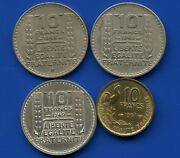 1948 1948 1949 And 1951 France 10 Franc Coins