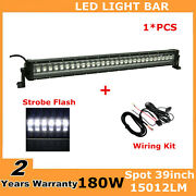 39inch 180w Flashing Ford Led Light Bar Spot Offroad Boat Suv 38/40+wiring Kit
