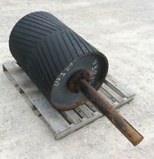 30 Drive Roller - 30 Inch Conveyor Roller Rubber Lagged Head Roller - 25 Dia