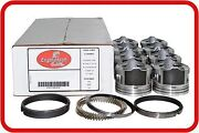 99-04 Chevy Truck/tahoe/express 4.8l V8 Vortec Lr4 8flat-top Pistons And Rings