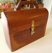 Vintage Bentwood Dome Wood Lunch Box And Holtemp Thermos Vacuum Bottle Aladdin Cup