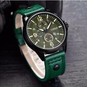 Watch Military Top Quality Curren Mens Leather Date Men Watch Promo