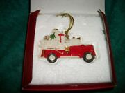 Fire Engine Tree Ornament By Lenox New/collectible