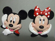 Disney/enesco Mickey And Minnie Mouse Wall Plaques