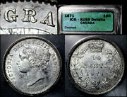 Elite Varieties Canada 10 Cents - 1871 Repunched R/r - Icg Au55 A495