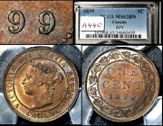 Elite Varieties Canada Large Cent 1899 Triple Punched 9 Pcgs Ms63 A440