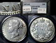Elite Varieties Canada 25 Cents - 1872h Repunched N/n Canada - Au55 A529