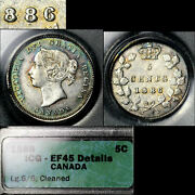 Elite Varieties Canada 5 Cents - 1886 Repunched Large 6/6 - Ef45 A462