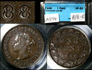 Elite Varieties Canada Large Cent 1888 Last 8 Repunched 8/8 - Cccs Vf30 A394