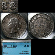 Elite Varieties Canada Large Cent 1888 Last 8 Triple Punched 8 Cccs Vf30 A398