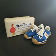 Vintage Childrens Red Goose Athletic Shoes Blue Sneakers Trainers 6.5 Nos