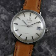Omega De Ville 166.033 Silver Dial Automatic Winding Vintage Watch 1969's