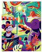 2019 Disney D23 Expo Welcome To The Jungle Cruise Canvas Wrap Jeff Granito Le 25