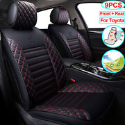 Car Seat Cover Set Pu Leather Car Accessories Fit For Toyota Rav4 Camry