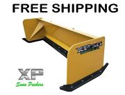 7and039 Xp30 Turf Pusher Skid Steer Loader Snow Plow Bobcat Case Free Shipping-rtr