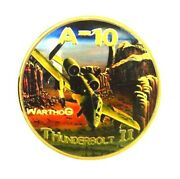 U.s. United States Air Force Usaf   A-10 Thunderbolt Ii   Gold Plated Coin