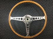 Restored Wooden Steering Wheel For 61-62 Xke Only No Horn. Dark Woodgrain