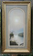 Wonderful Hudson River Pastel On Paper Of Valley By George D Brewerton