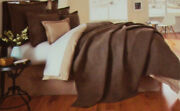 Noble Excellence Moderne Aaron Reversible Quilted King Sham Pillowcase Brown Nwt