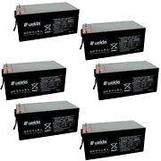 6pc Wedia 12v 200ah Sealed Lead Acid Ups Backup Battery Upg Ub-4d