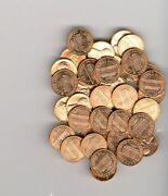 1971 D Lincoln Memorial Cent Roll 50 Brilliant Uncirculated Copper Penny Coins