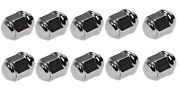 Set Of 10 Stainless Steel Capped Lug Nuts 7/16-20 3/4 In. Hex 1.375 In. Length