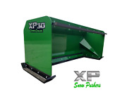 7and039 Xp30 John Deere Snow Pusher W/ Pullback Bar- Tractor Loader - Local Pick Up
