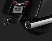 Vance And Hines Chrome Titan 450 Slip Ons Mufflers For Hd Touring 16650 New