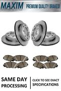 Front And Rear Geomet Coated Rotors And Premium Ceramic Pads Wolverine Shims